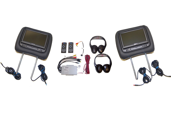 HR7012PKGSS / COMPLETE HEADREST ELECTRONIC KIT WITH HDMI/USB