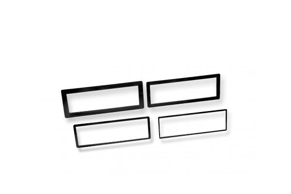 DTR600 / DIN TRIM RINGS 4 PACK 1/8in., 1/4in., 1/2in., 3/4in. Border - Plastic