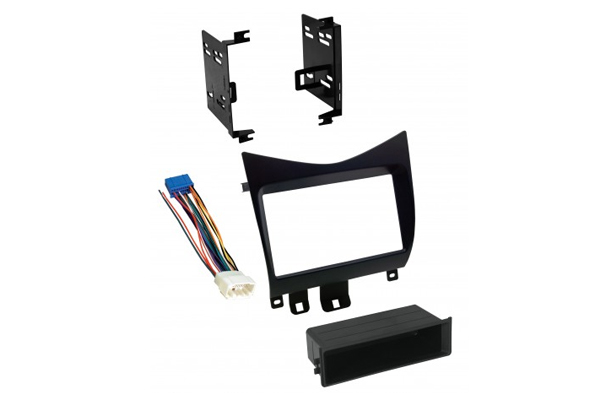 HONK825H / 2003-2007 HONDA ACCORD / RELOCATION KIT w/HARNESS / SINGLE ISO w/POCKET or DBL DIN