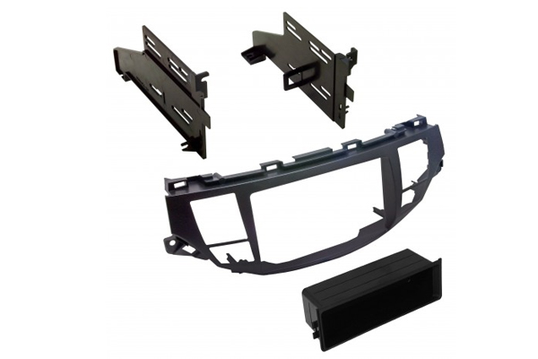 HONK854L / 2008-12 ACCORD/ 2010-12 CROSSTOUR / with OEM NAV /GUN METAL TAUPE / SINGLE ISO w/POCKET or DBL DIN