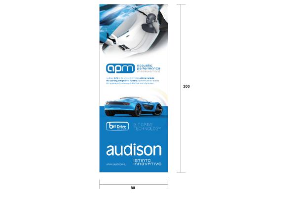 90300543 / AW L-BANNER AUDISON APM 80X200cm