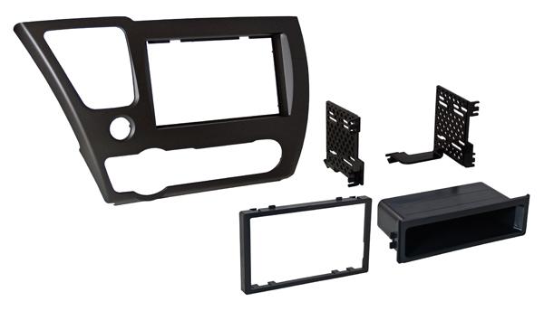 BKHonK840 / 2013 Honda Civic Single ISO w/ Pocket or Dbl DIN