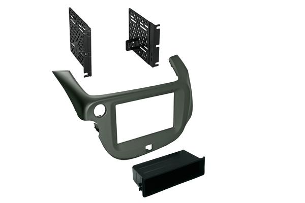 BKHonK848S / 2009-2013 Honda Fit - Dbl DIN / Single ISO w/ Pocket - Silver