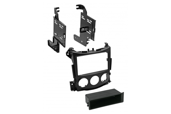 BKNDK746 / 2009 - 2018 Nissan 370Z SINGLE DIN/ISO w/POCKET or DOUBLE DIN  painted satin black