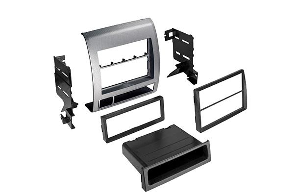 BKToyK972S / 2005-2011 Toyo Tacoma Single DIN ISO w/ Pocket or Dbl DIN - Silver