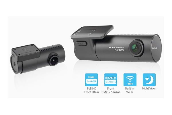 DR590W-2CH-32 / 2-CHAN DASHCAM DUAL 1080P CAMERAS, WIFI, 32GB SD CARD