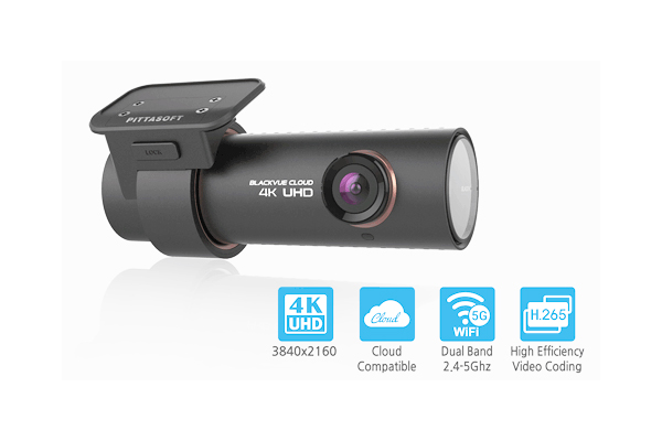 DR900S-1CH-32 / 1 CHANNEL 4K DASHCAM, 60FPS, w/ WIFI 32GB CARD