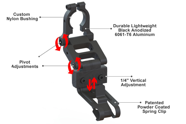 BMX-2000R / Radar Detector Mount,Escort/Beltronics, MAX/GT-7 Series, 3/4
