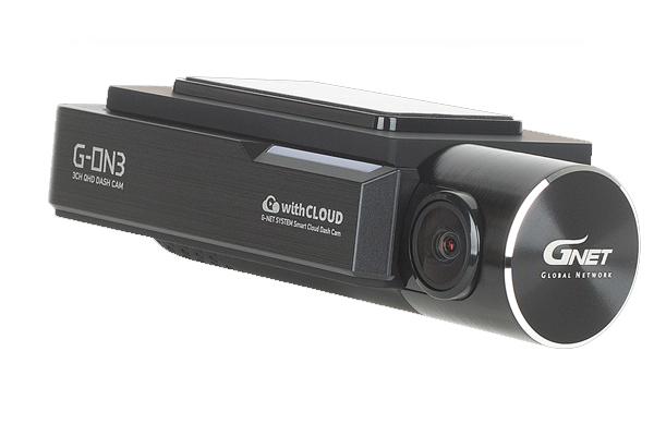 G-ON3T1 / 3-CHAN DASHCAM, QHD FRONT, 1080P INTERIOR & REAR, 128GB, WIFI, LOCKING SD