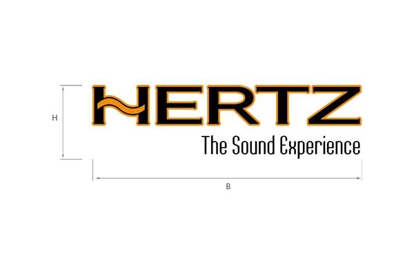 90220021 / HZ STICKER.1 S - HERTZ Transfer Sticker 13,8x3,8