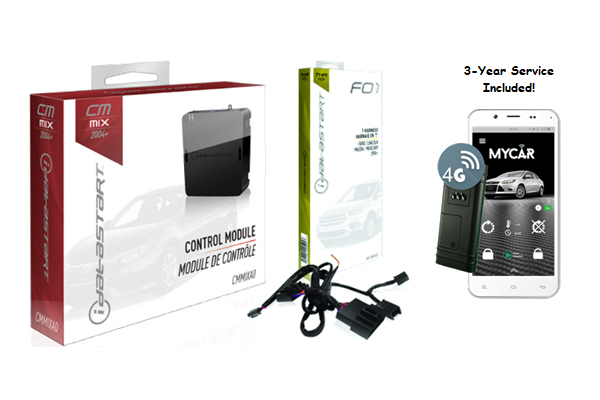 CMMIXA0-FO1-MYCAR3 / IDATASTART FORD REMOTE START CONTROL MODULE WITH FO1 T-HARNESS AND MYCAR 3 YEARS