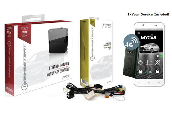CMMIXA0-NI5-MYCAR1 / IDATASTART NISSAN REMOTE START CONTROL MODULE WITH NI5 T-HARNESS AND MYCAR 1 YEAR