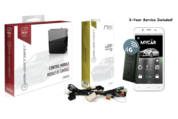 CMMIXA0-NI5-MYCAR3 / IDATASTART NISSAN REMOTE START CONTROL MODULE WITH NI5 T-HARNESS AND MYCAR 3 YEARS