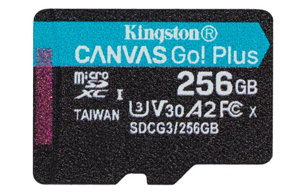 SDCG3/256GBCR / Canvas Go! Plus U3/V70 High Performance MicroSD Card - 256GB