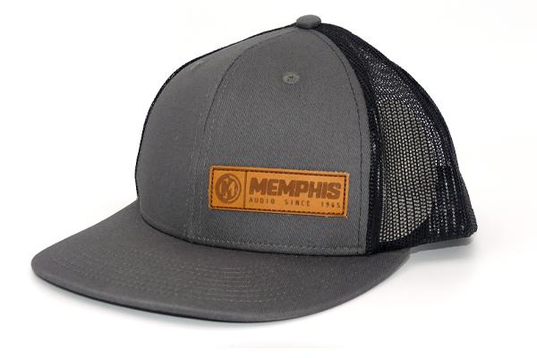 MAHATV1 / Mesh Back Curve bill Trucker Hat Gry/Blk