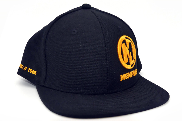 MAHATV2 / Flat Bill Snap Back Hat Black