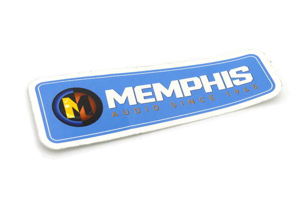 MASTICKERBLUE / Blue Memphis Audio Wedge Sticker