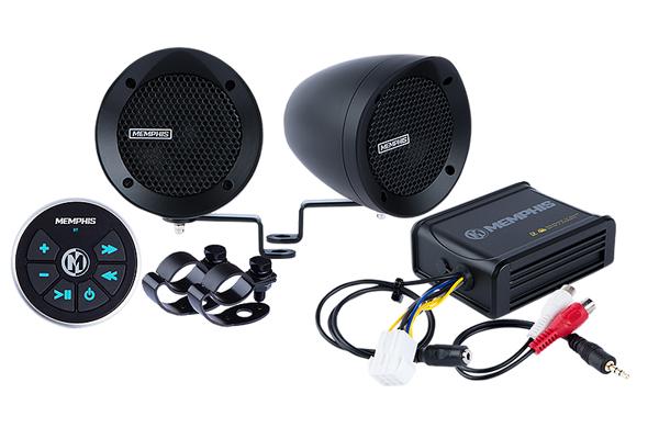 MXABMB2BT / bar mount 2 Speaker w amp and BT black
