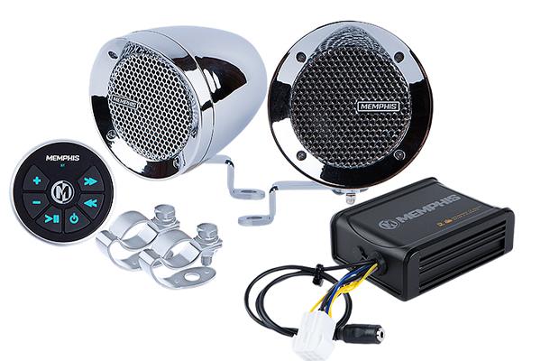 MXABMC2BT / bar mount 2 Speaker w amp and BT Chrome