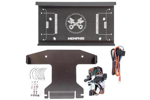 MXAHD14KIT / Amp Brackets, plug/play pwr/skpr harness, no flash needed