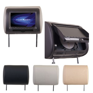 HDVD71CC-KIT / (2) UNIVERSAL HEADRESTS w PRELOADED DVD & 7