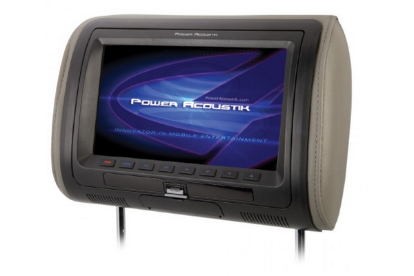 HDVD71CC / UNIVERSAL HEADREST w PRELOADED DVD & 7