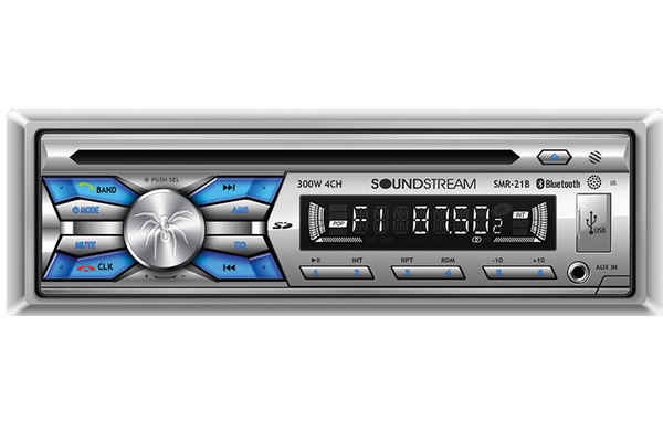 SMR-21B / Single DIN CD Player w/ 32GB USB Playback & Bluetooth 2.0