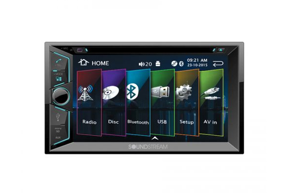 "VR-624B / 6.2"" Touchscreen 2-DIN DVD, CD/MP3, AM/FM Receiver w/ Bluetooth 4.0"