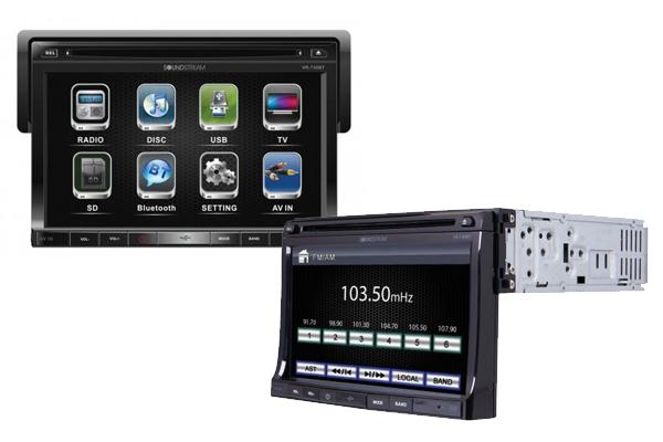 VR-730B / 1-DIN DVD Source Unit w/ Detachable 7