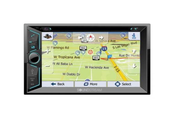 "VRN-624B / 6.2"" Touch screen 2-DIN DVD, CD/MP3, AM/FM Receiver w/ Bluetooth 4.0 & GPS Navigation"