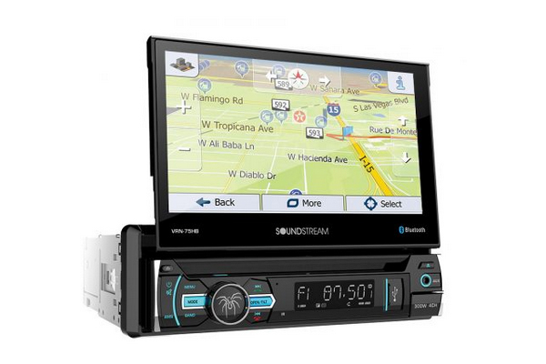 "VRN-75HB / 1-DIN 7"" Tscreen LCD Receiver w iGo GPS Navigation/DVD/ CD/MP3/AM/FM/Btooth 4.0/Android PhoneLink"
