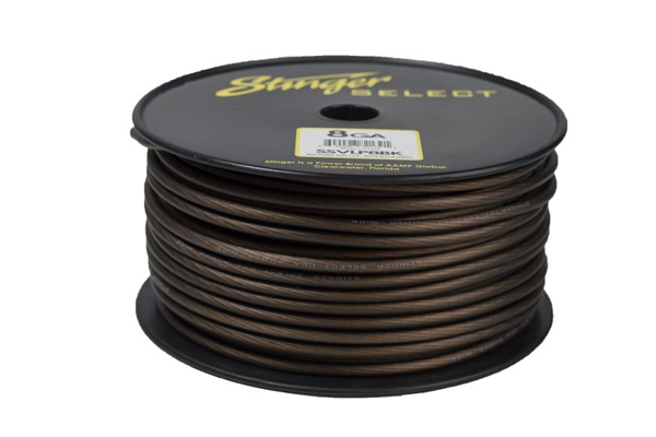 SSVLP8BK / Stinger Select VL Matte Black 8 Ga Pwr Wire - 250 ft