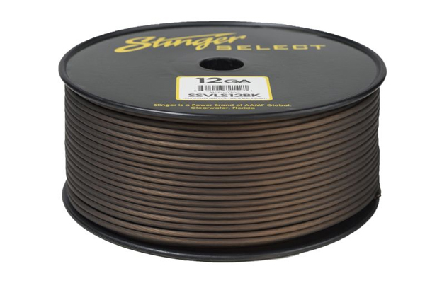 SSVLS12BK / Stinger Select VL Matte Black 12 Ga Speaker Wire - 250 ft