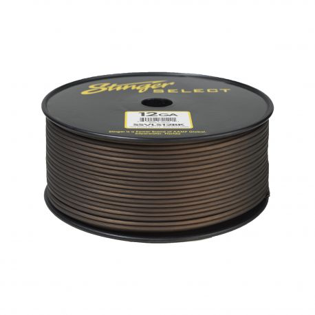 SSVLS16BK / Stinger Select Matte Black 16 Ga Speaker Wire - 500 ft