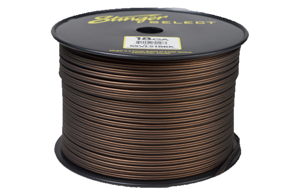 SSVLS18BK / Stinger Select VL Matte Black 18 Ga Speaker Wire - 1000 ft