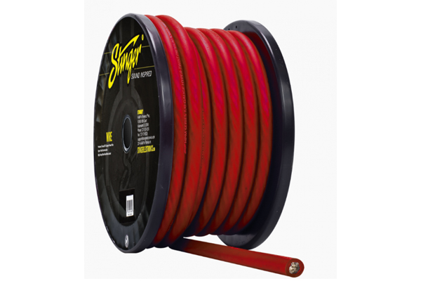 SPW10TR / 0 GA RED POWER WIRE PRO 50FT'