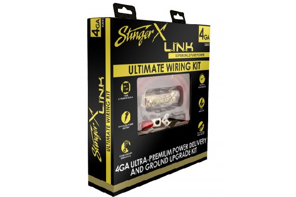 X2K41 / STINGER X2 SERIES 4 GA ULTIMATE POWER/GND WIRING KIT $ 149.99
